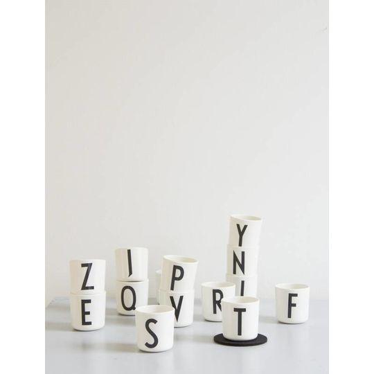 design letters melamine cup