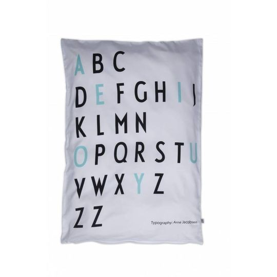design letters baby duvet cover turquoise -20%