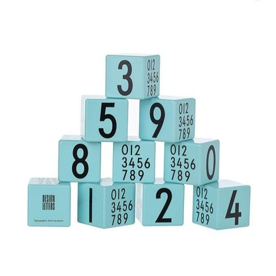 design letters number blocks aqua