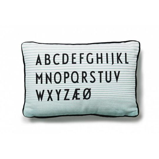 design letters pillow