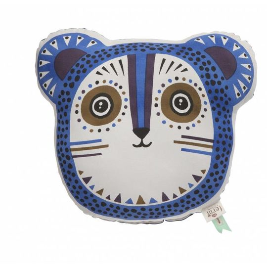ferm living billy bear blue pillow