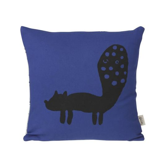 ferm living fox pillow blue