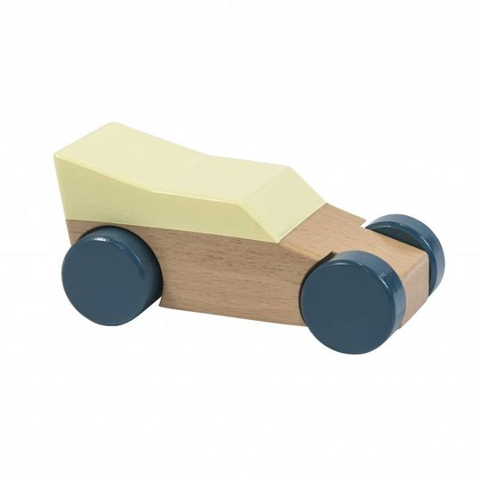 sebra wooden racing car yellow