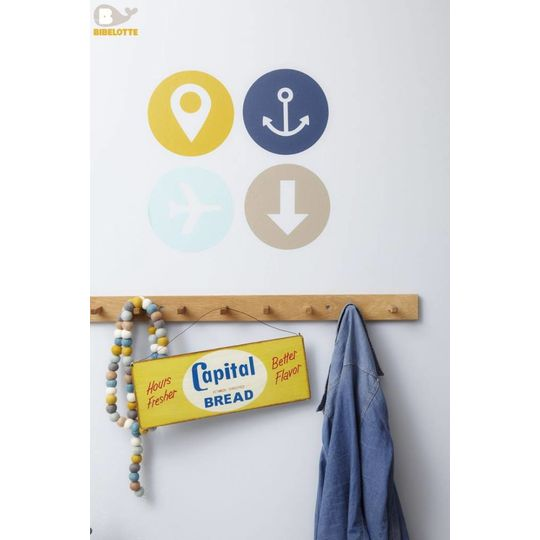 bibelotte travel sign muursticker