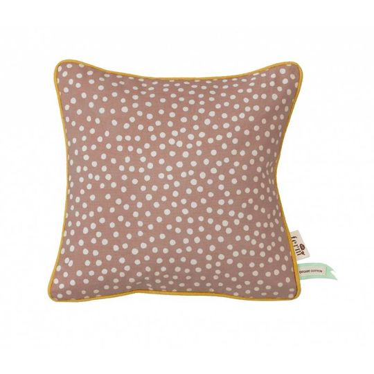 ferm living dots rose pillow