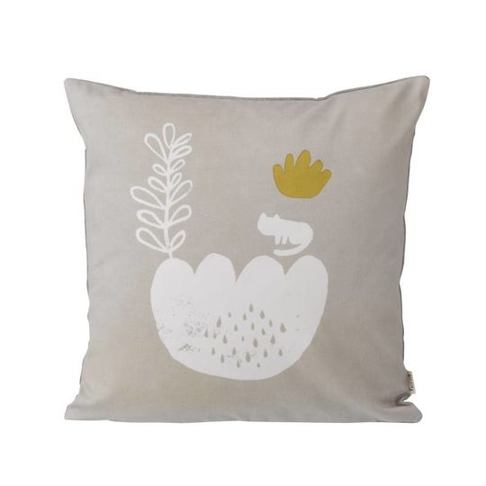 ferm living landscape pillow grey