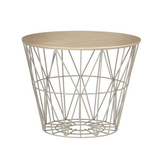 ferm living wit basket top oak
