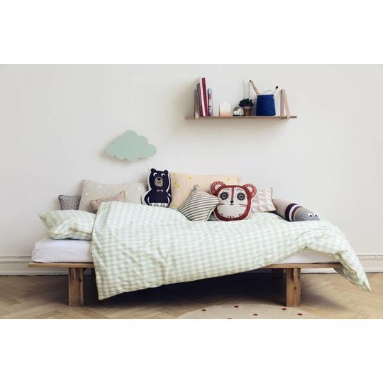 ferm living harlequin mint duvet cover junior