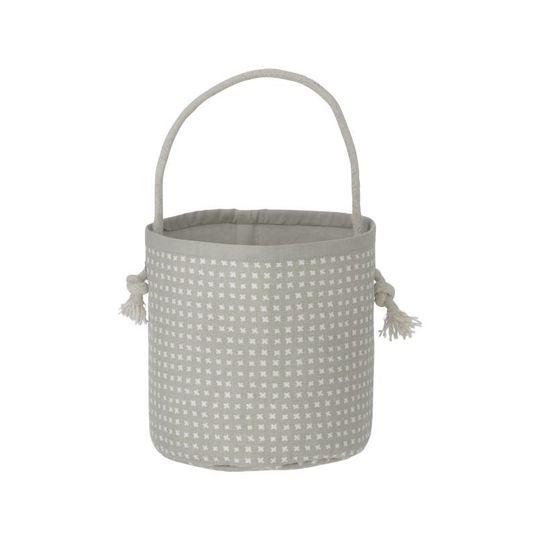 ferm living basket grey cross