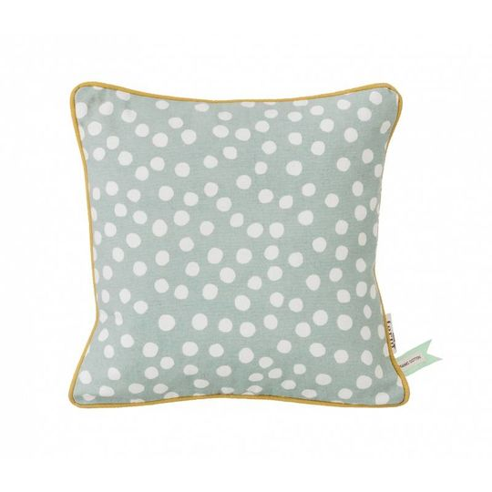 ferm living dots dusty blue pillow