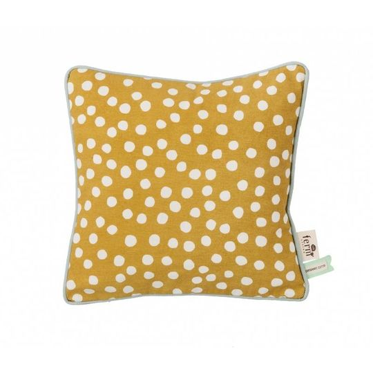 ferm living dots curry pillow