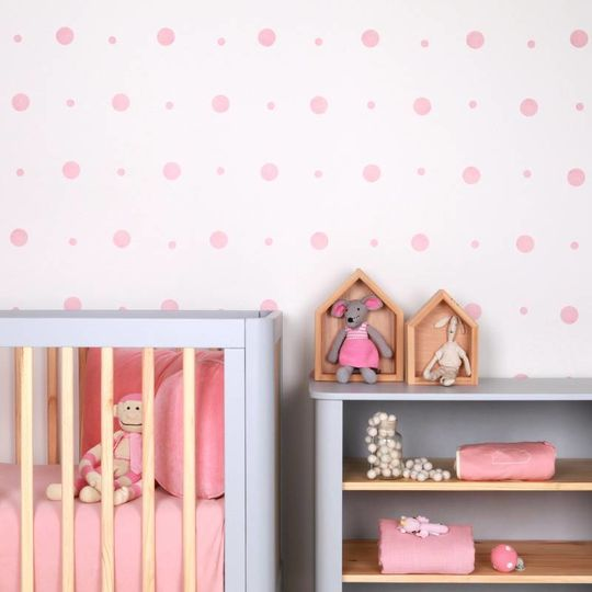 love mae dots pink wall decals