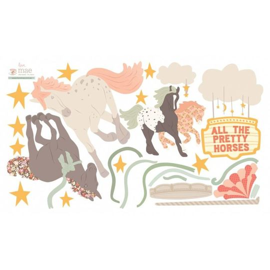 love mae pretty horses muurstickers -20%