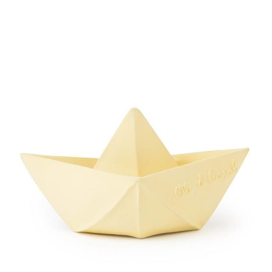 oli and carol origami boat bath/chewtoy yellow