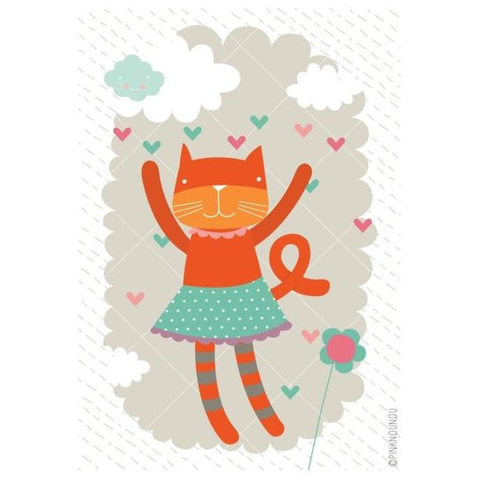 pinknounou happy cat poster -20%