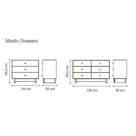 oeuf nyc merlin 6 drawer dresser classic birch white