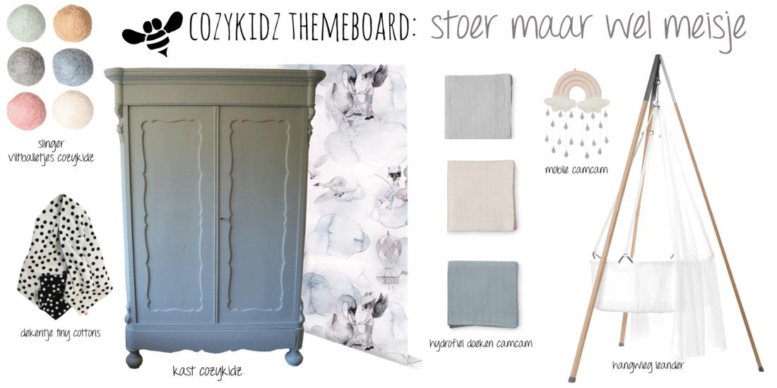 Kinderkamer babykamer styling cozykidz - Witte en blauwe kamer ...