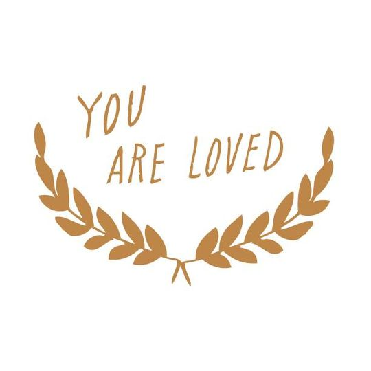 shanna murray you are loved wall sticker capitals gold