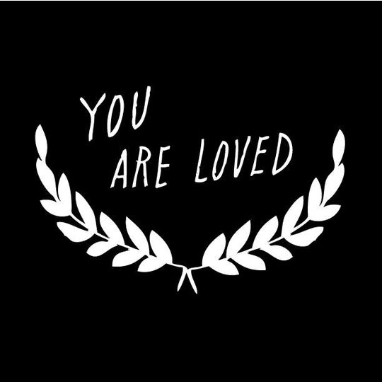 shanna murray you are loved wall sticker capitals white