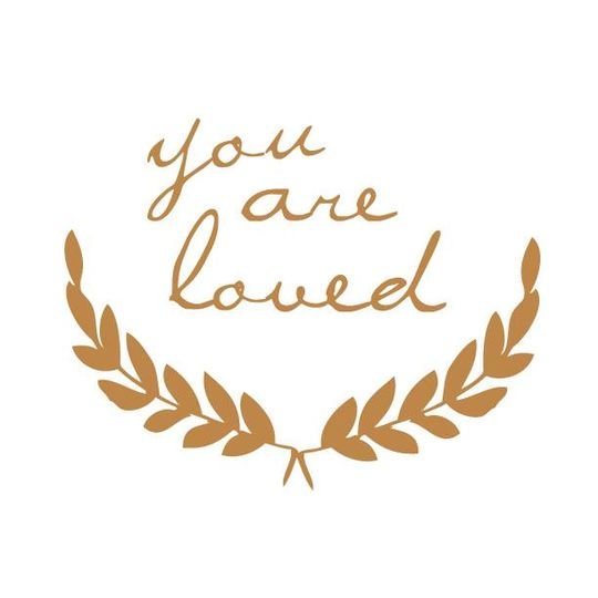 shanna murray you are loved wall sticker lowercase gold
