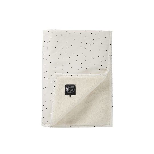 mies & co soft teddy blanket adorable dot
