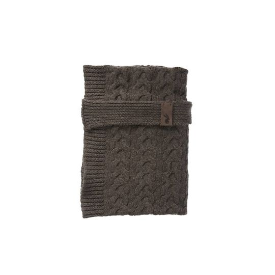 mies & co baby crib blanket pure brown
