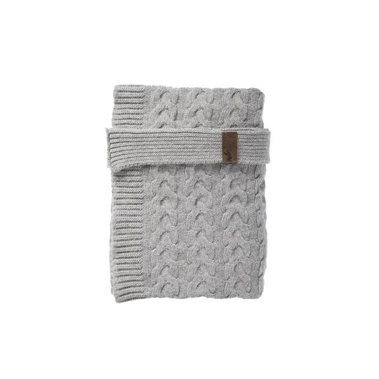 mies & co baby crib blanket soft grey