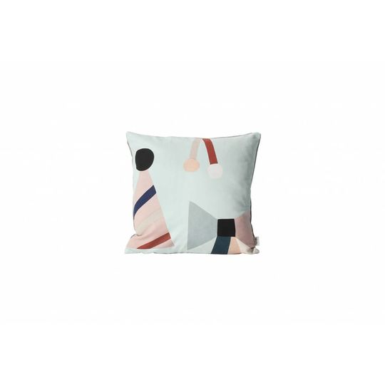 ferm living party drum cushion mint