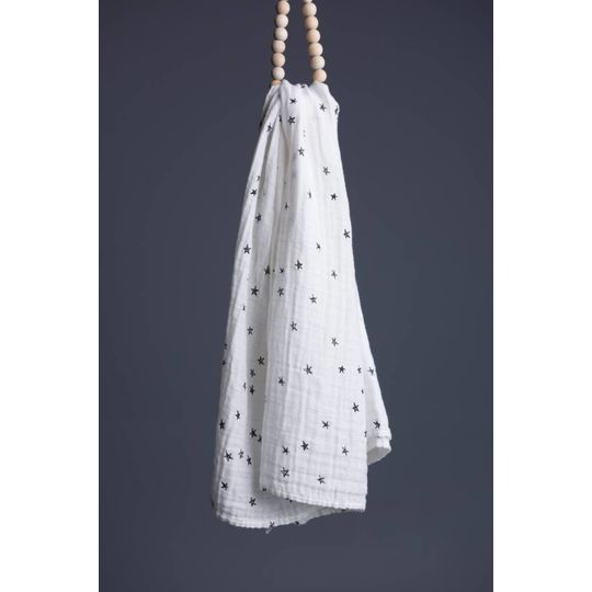wee gallery organic swaddle stars