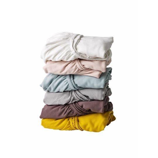 linea by leander fitted sheet set of 2 yellow 60x120 cm