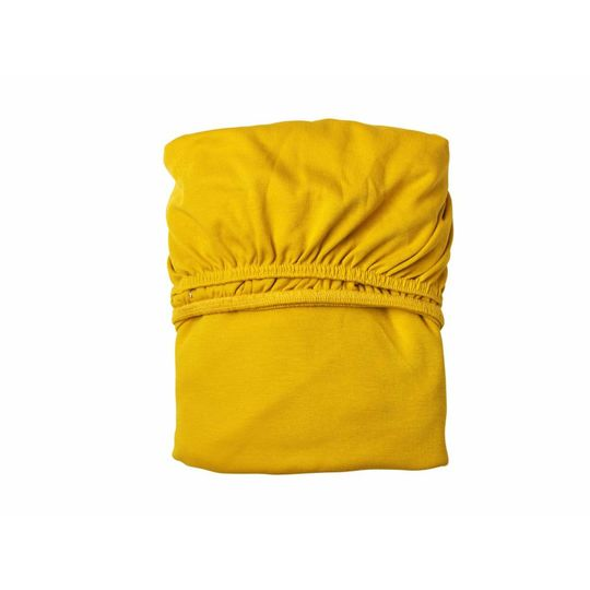 leander fitted sheet set of 2 yellow 60x120 cm