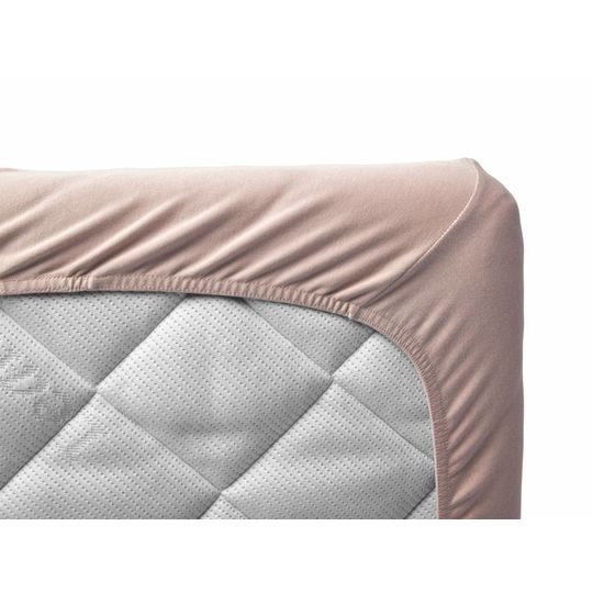 leander fitted sheet set of 2 soft pink 60x120 cm