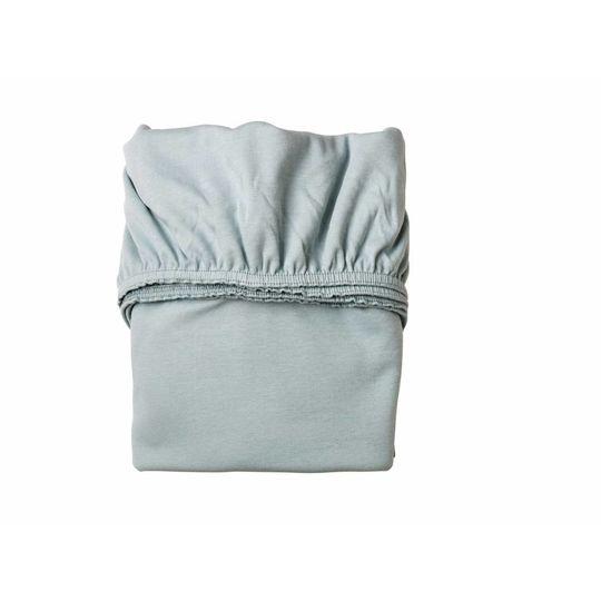 leander hoeslaken set van 2 misty blue 60x120 cm
