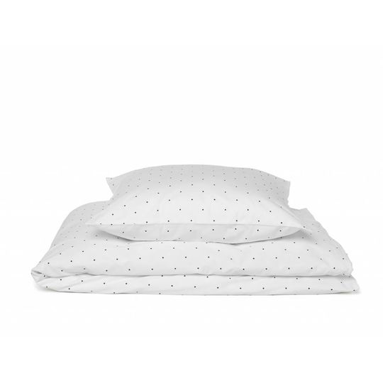 liewood duvet cover classic dots white - junior