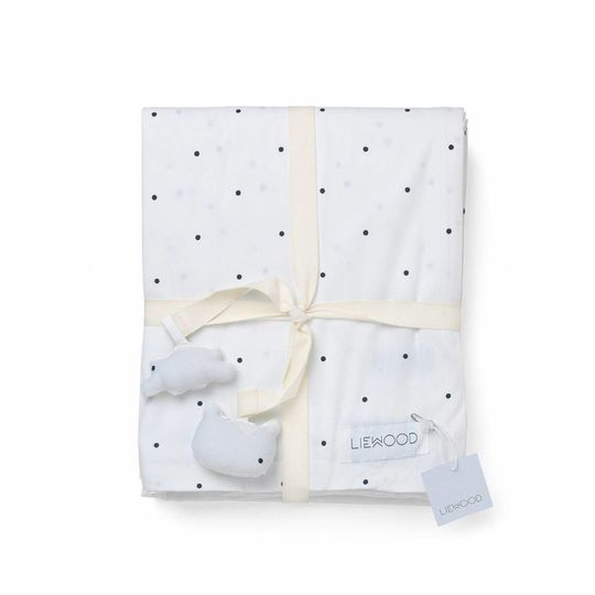 liewood duvet cover classic dots white - adult