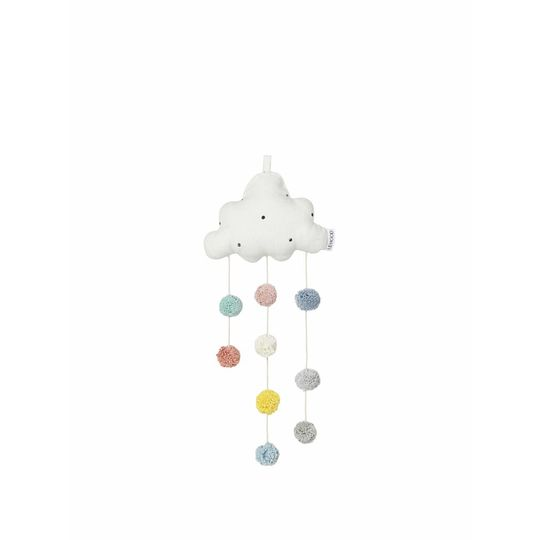 liewood mobile cloud small creme dots