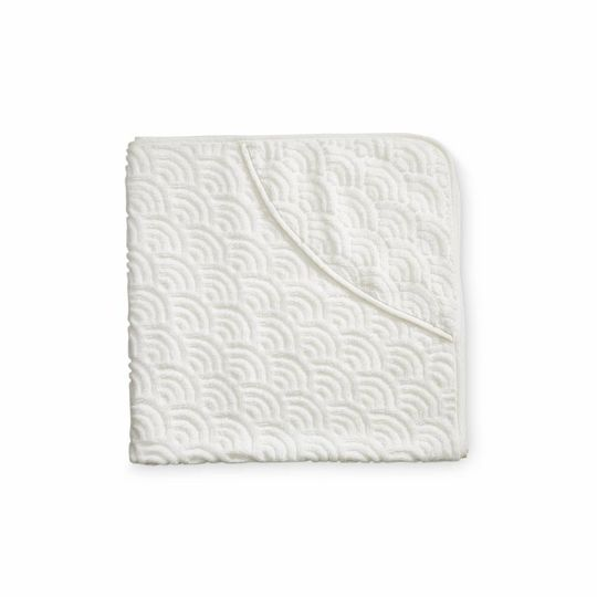camcam copenhagen hooded towel off white