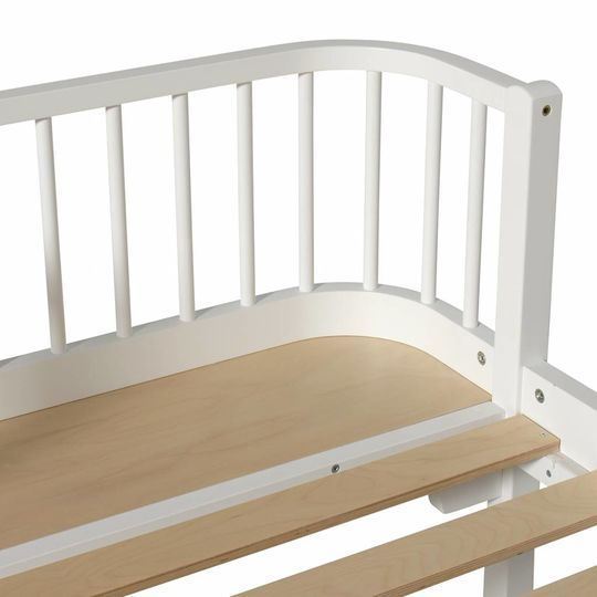 oliver furniture wood bed white 90x200