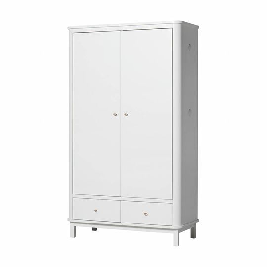 oliver furniture wood 2 door wardrobe white