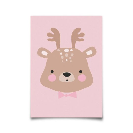 eef lillemor miss deer card