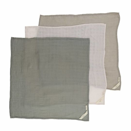 konges sløjd muslin cloths 3-pack limestone