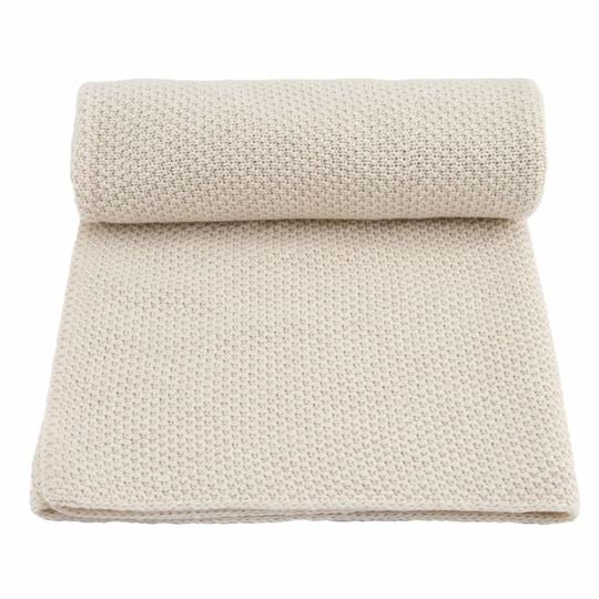 konges sløjd baby blanket new stitch off white melange