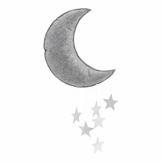 konges sløjd moon mobile gray / silver