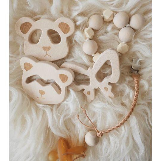 loullou wooden teether panda