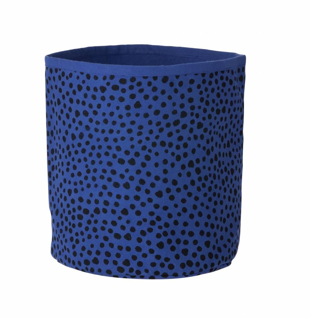 ferm living basket dots blue cozykidz. Black Bedroom Furniture Sets. Home Design Ideas