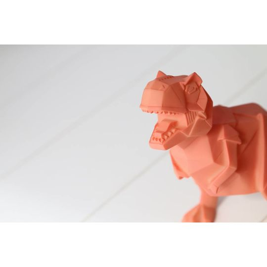 disaster designs origami lamp t-rex oranje