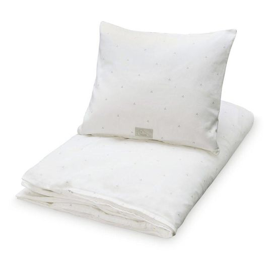 camcam copenhagen duvet cover dots cream grey junior