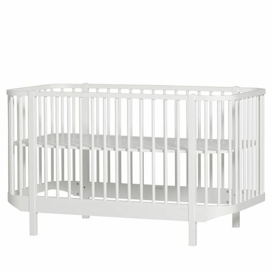 oliver furniture wood cot white