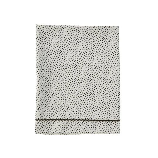 mies & co flat sheet cozy dots offwhite