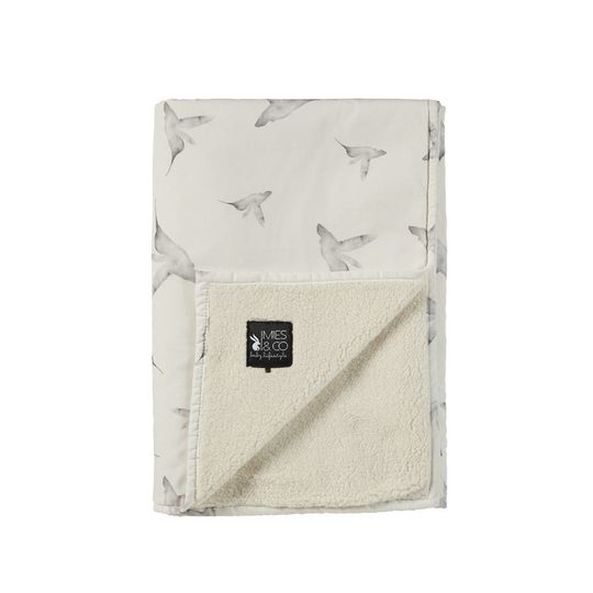 mies & co soft teddy blanket little dreams offwhite